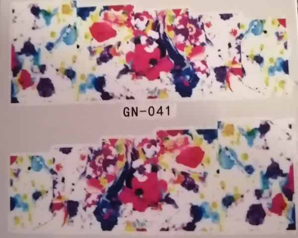 Water transfer nail sticker gn041 picture