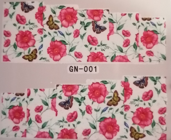 Water transfer nail sticker gn001 picture
