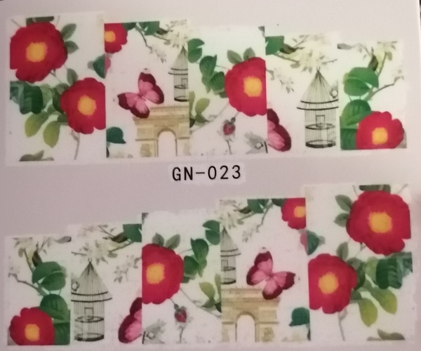 Water transfer nail sticker gn023 picture