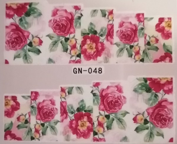 Water transfer nail sticker gn048 picture