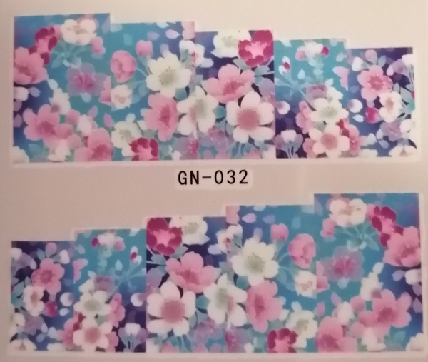 Water transfer nail sticker gn032 picture