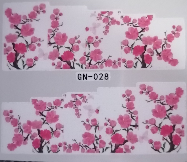 Water transfer nail sticker gn028 picture