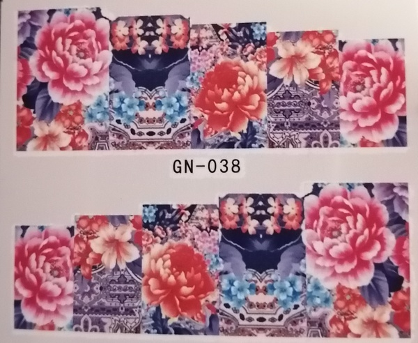 Water transfer nail sticker gn038 picture