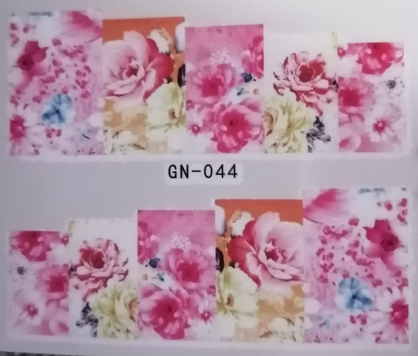 Water transfer nail sticker gn044 picture