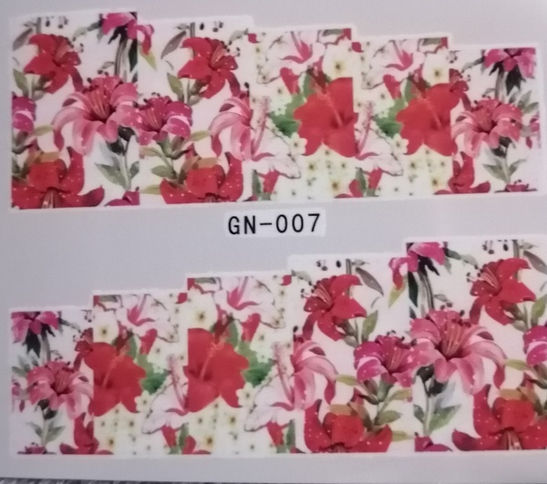 Water transfer nail sticker gn007 picture