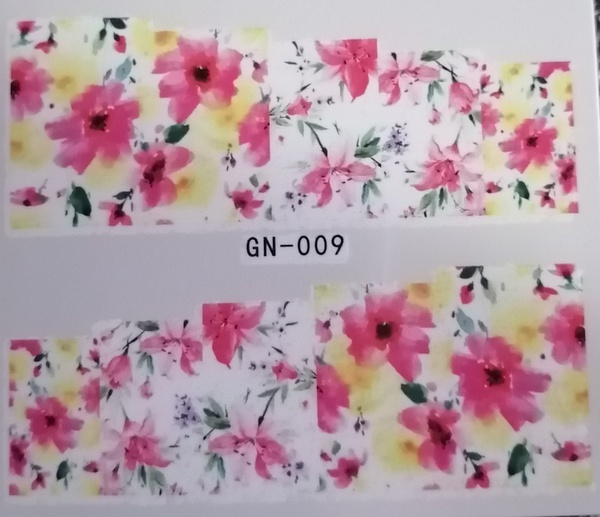 Water transfer nail sticker gn009 picture