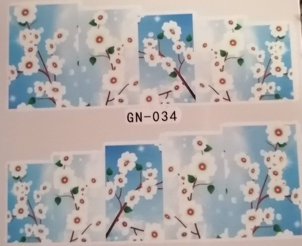 Water transfer nail sticker gn034 picture