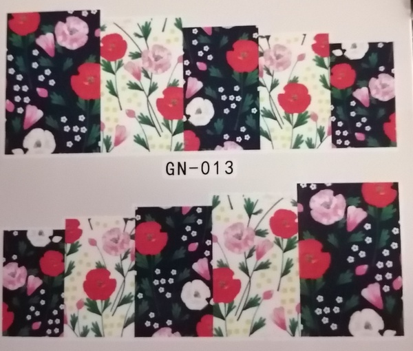 Water transfer nail sticker gn013 picture