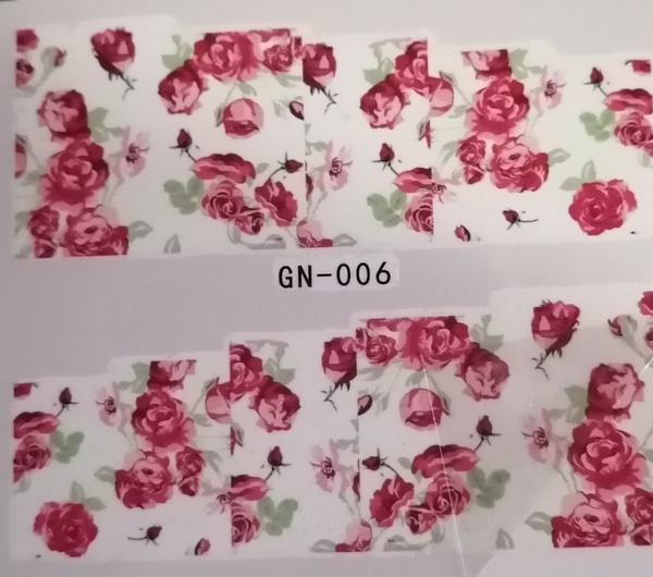Water transfer nail sticker gn006 picture