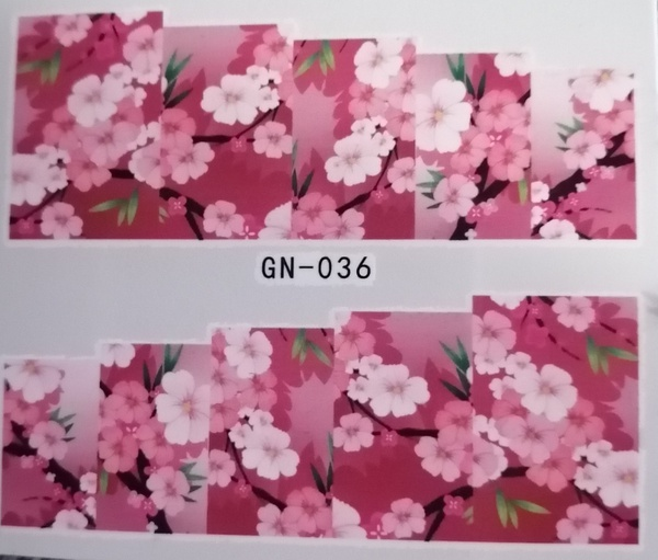 Water transfer nail sticker gn036 picture