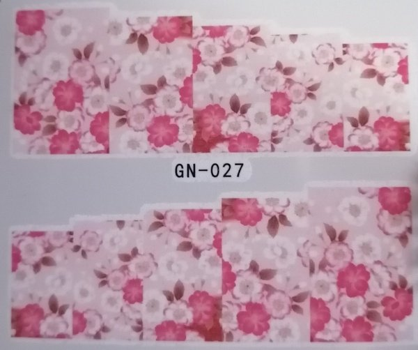 Water transfer nail sticker gn027 picture