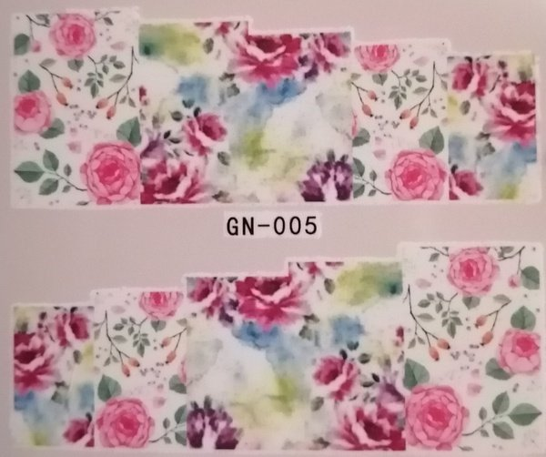 Water transfer nail sticker gn005 picture