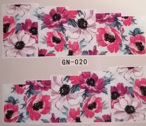 Water transfer nail sticker gn020 picture