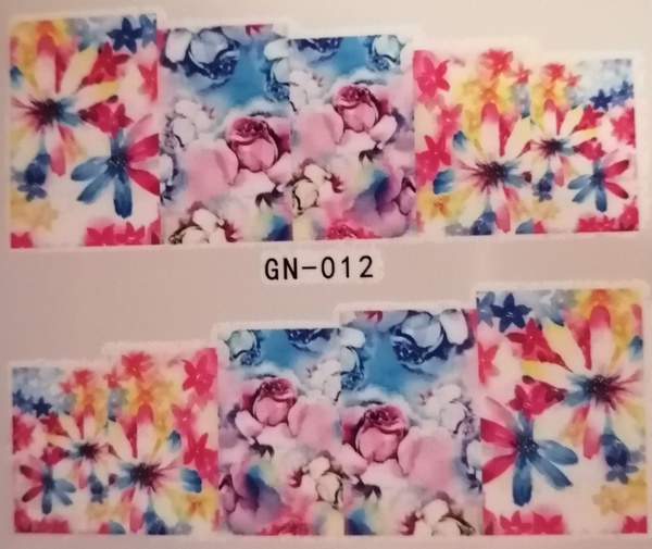 Water transfer nail sticker gn012 picture