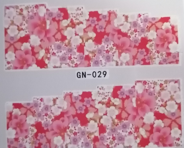Water transfer nail sticker gn029 picture