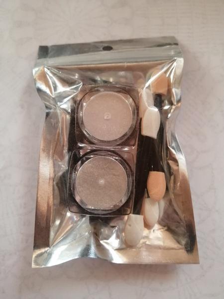 2 x pots mirror chrome powder gold / silver picture