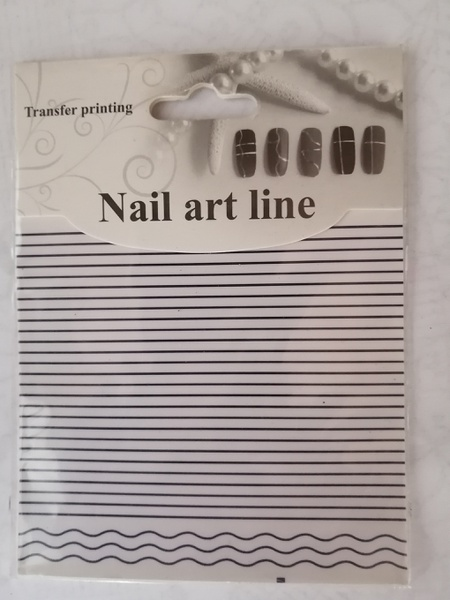 Nail art line stickers - blue picture