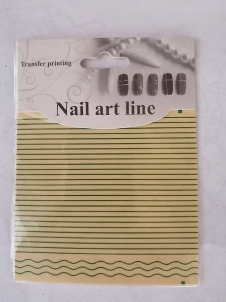 Nail art line stickers - green picture