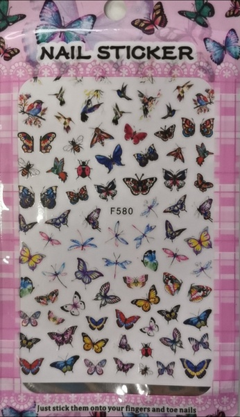 Butterfly nail stickers - f580 picture