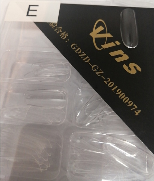 100 pcs full vins almond   tips e clear picture