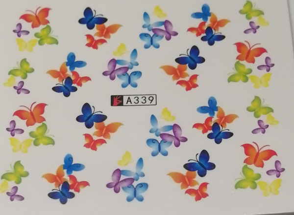 10 pcs water transfer sticker b126 picture
