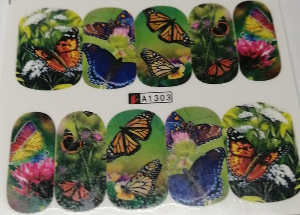 10 pcs water transfer sticker b128 picture