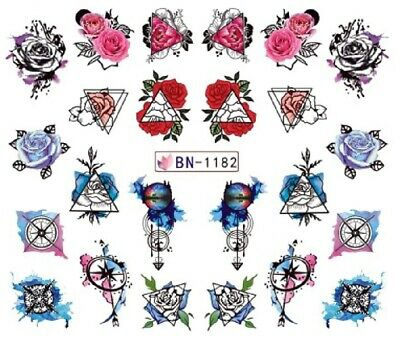 Water transfer nail sticker bn-1182 picture