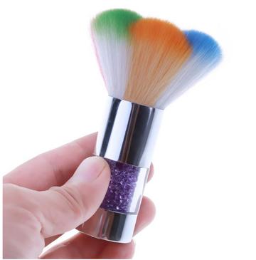 Dusting brush brush rainbow colors picture