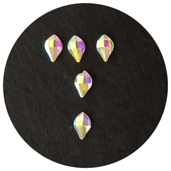 5 pcs nail charms rainbow stone 3 picture