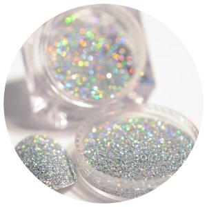 Born pretty hologram powder silver picture
