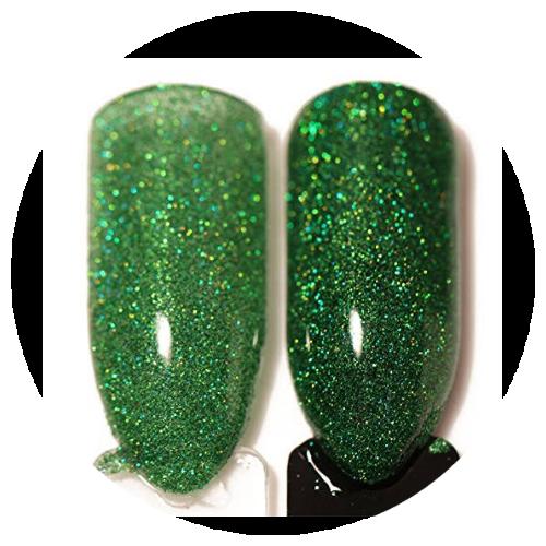 Born pretty hologram powder green picture