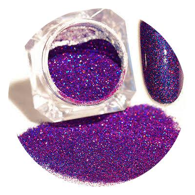 Born pretty hologram powder purple picture