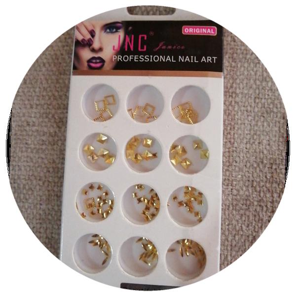 12 pcs nail art decoration gold charms picture