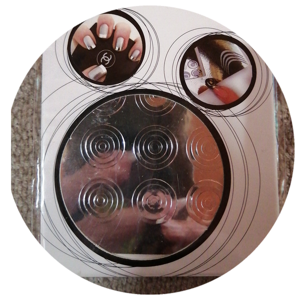 Nail art vinyl stickers silver sirkel picture