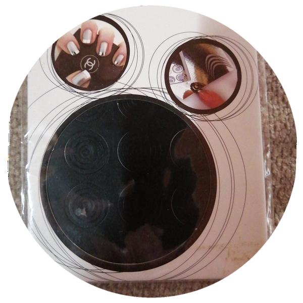 Nail art vinyl stickers black round picture