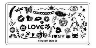 Image stamping plate - s-style 06 picture