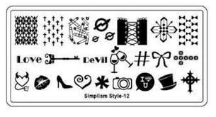 Image stamping plate - s-style 12 picture