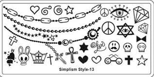 Image stamping plate - s-style 13 picture