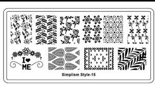 Image stamping plate - s-style 15 picture
