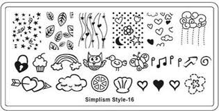 Image stamping plate - s-style 16 picture