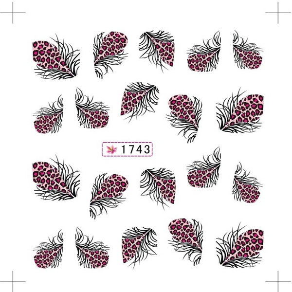 Water transfer nail sticker 1743 picture
