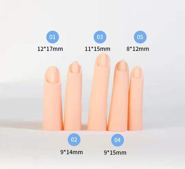 Silicon practice finger 5pcs/set picture