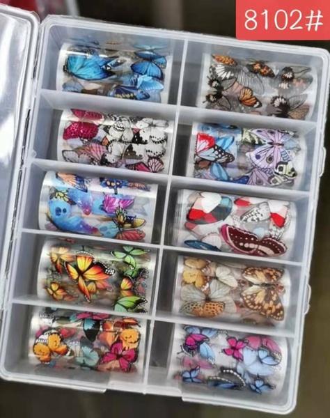 10 pcs nail foils no 8102 picture
