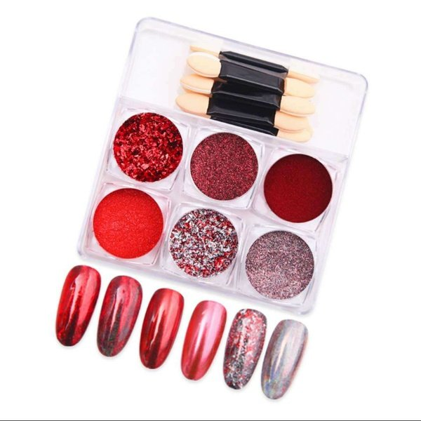 6 pc s nail decorations - red picture