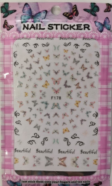 Butterfly nail stickers - f177 picture