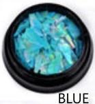Nail art shell debris blue picture