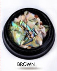 Nail art shell debris brown picture