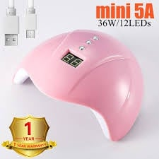 36 w mini 5 a led lamp - pink picture