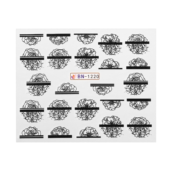 Water transfer nail sticker bn-1220 picture