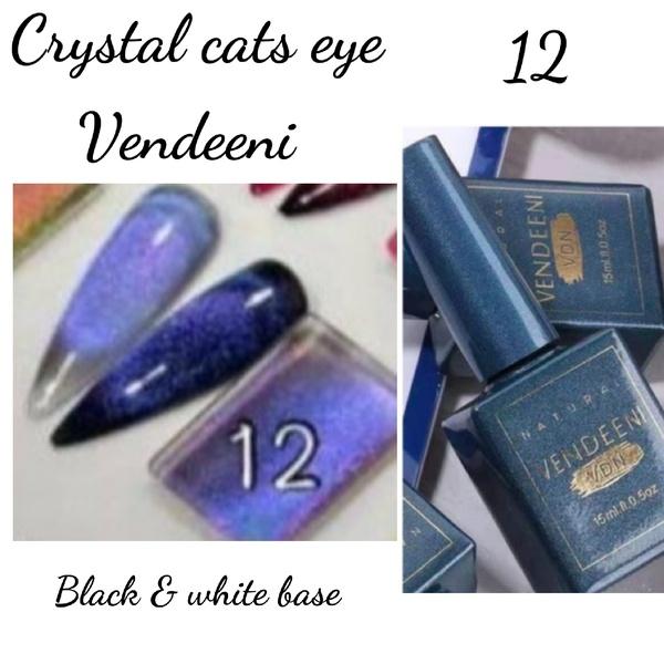 15 ml vendeeni crystal cats eye gel nail polish no 12 picture